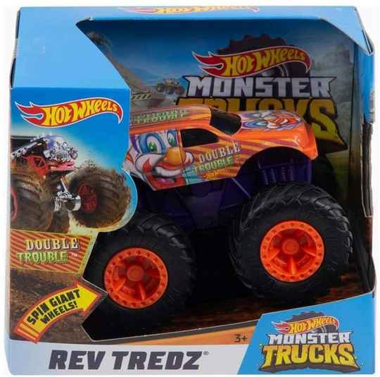 Hot Wheels Monster Trucks 1:43 - Rev Tredz Double Trouble