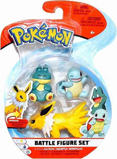 Pokemon Battle Figure Pack - Jolteon, Squirtle, Munchlax