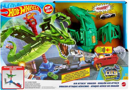 Hot Wheels City Air Attack Dragon - Speelset