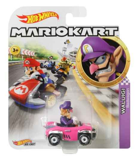 Hot Wheels Mario Kart Replica Die-Cast - Waluigi