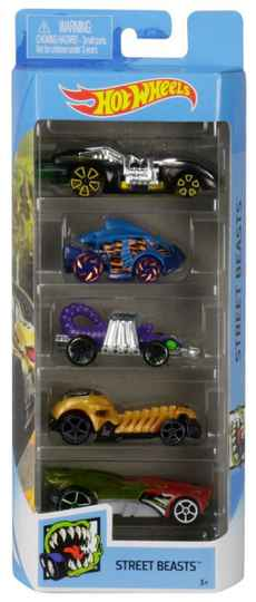 Hot Wheels Cadeauset met 5 Auto's (GHP57)