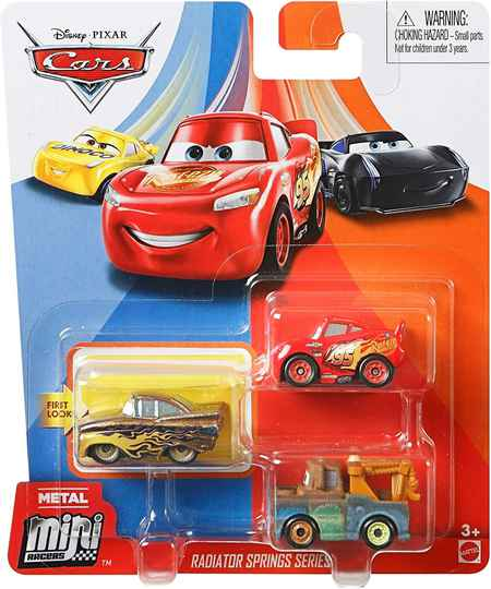 Disney Pixar Cars Mini Racers Set van 3 Auto's (GKG05)