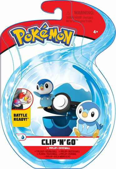 Pokemon Clip 'n Go Piplup Dive ball