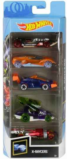 Hot Wheels Cadeauset met 5 Auto's (GHP59)