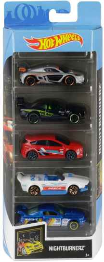 Hot Wheels Cadeauset met 5 Auto's (GHP58)