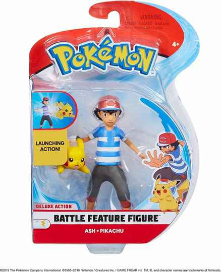 Pokemon Battle Feature Figure - Ash & Pikachu