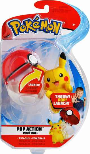 Pokemon Pop Action Poké Ball - Pikachu & Poke Ball