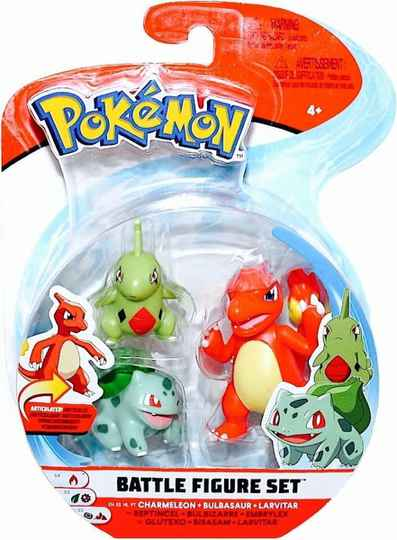 Pokemon Battle Figure Pack - Charmeleon, Bulbasaur, Larvitar