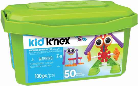 Kid K'NEX Budding Builders Tub 100 Onderdelen - Bouwset