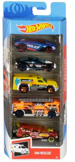 Hot Wheels Cadeauset met 5 Auto's (GHP61)