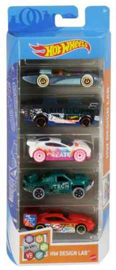 Hot Wheels Cadeauset met 5 Auto's (GTN34)