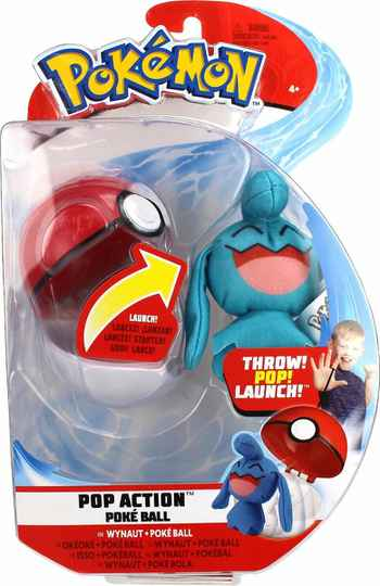 Pokemon Pop Action Poké Ball - Wynaut & Poke Ball
