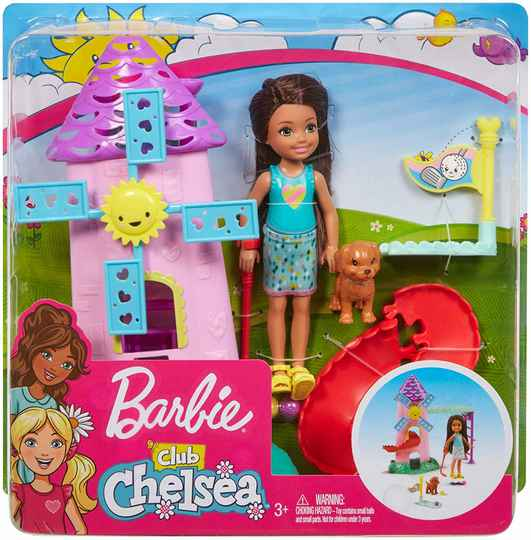 Barbie Club Chelsea Mini Golf Doll en Speeltoestel