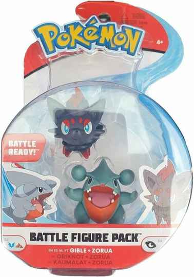 Pokemon Battle Figure - Gible & Zorua