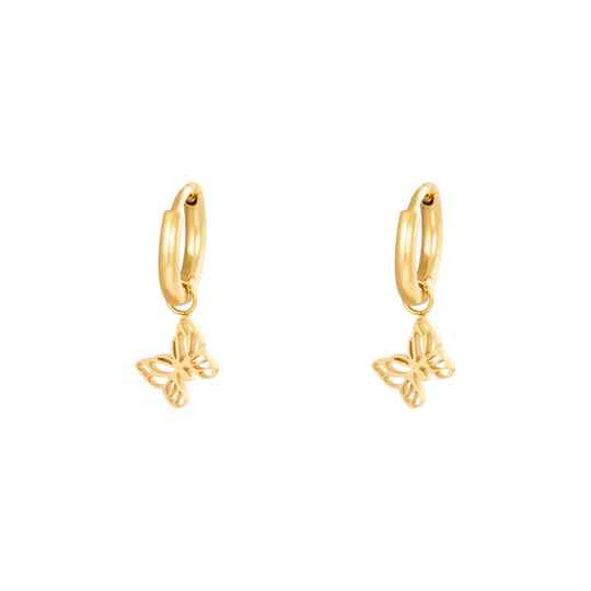 EARRINGS BUTTERFLY - GOLD