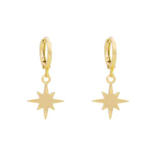 EARRINGS NORTHERN STAR - GOLD