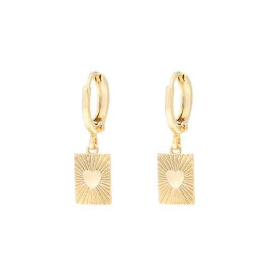 EARRINGS HEART - GOLD