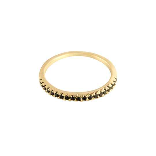 RING LITTLE STONES - GOLD/BLACK