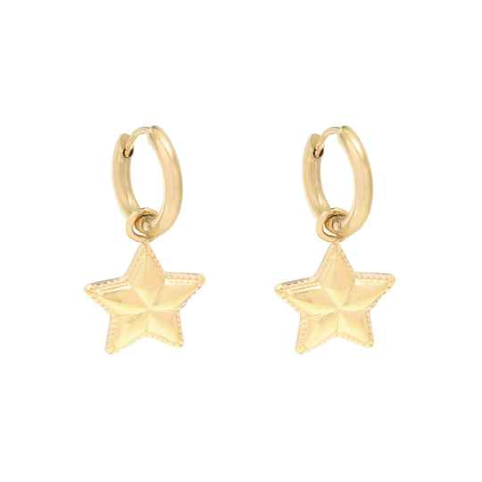 EARRINGS STAR - GOLD
