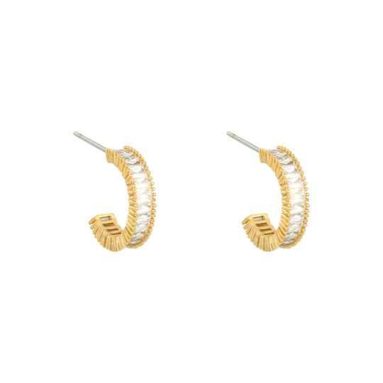 EARRINGS ZIRCONIA - GOLD