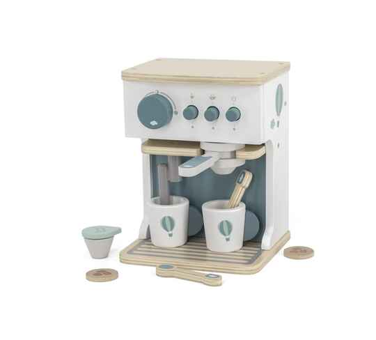 Label Label houten espresso machine groen