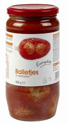 Everyday balletjes in tomatensaus 800gr