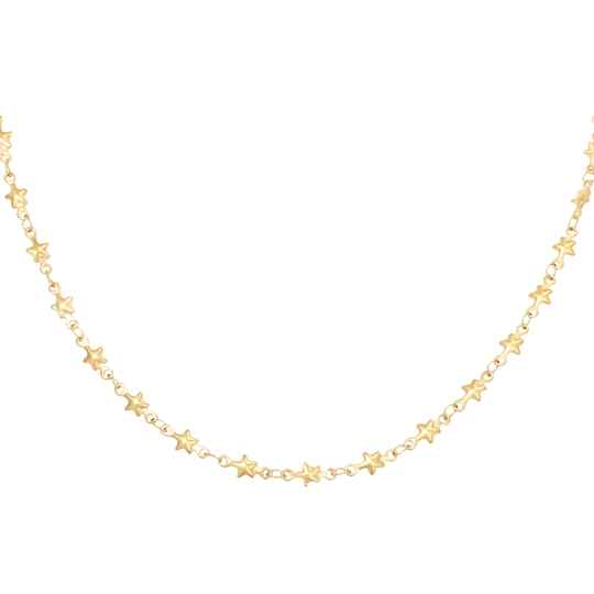 Ketting chained star - gold