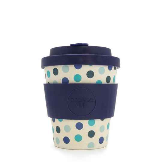 Ecoffee cup BLUE POLKA 8oz
