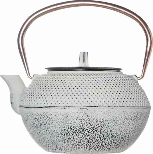 Cosy & Trendy SHINTO WHITE AND COPPER THEEPOT 1.2L HANDVAT KOPER, 131201W