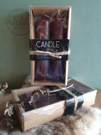 Candle junkie rood
