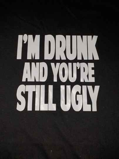 I'm drunk and you are still ugly...
