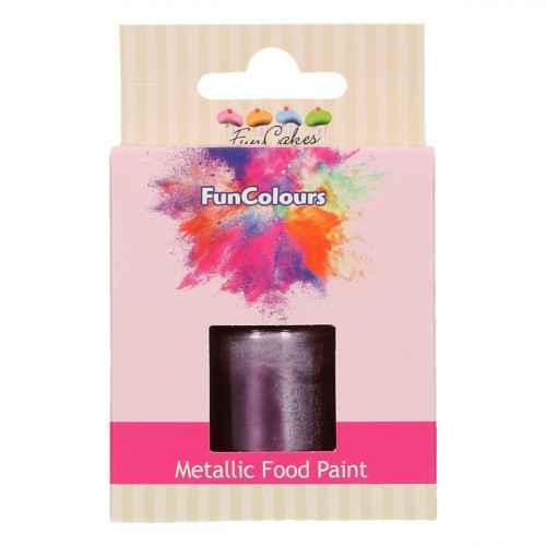 Funcakes Funcolours Metallic food paint Paars 30 ml