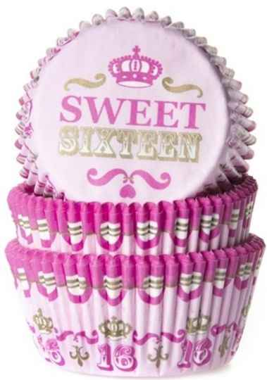 House of Marie baking cups Sweet 16 pk/50