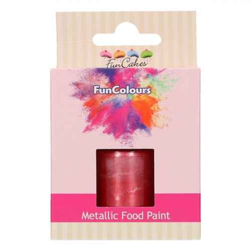 Funcakes Funcolours Metallic food print Cerise 30 ml