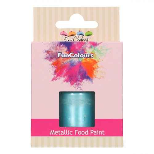 Funcakes Funcolours Metallic food paint Baby blauw 30 ml