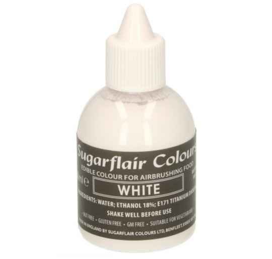 Sugarflair Airbrush kleurstof wit 60 ml
