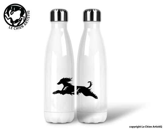 Afghaanse Windhond coursing ! silhouet ! thermosfles 500ml