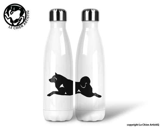 Alaskan Malamute ! silhouet ! thermosfles 500ml