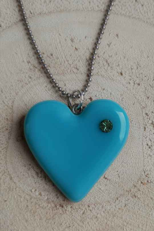 KETTING HART TURQUOISE