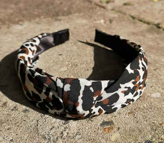 """Haarband """"Leopard cool white"""""""