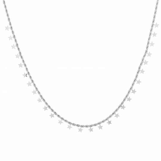 Twisted stars necklace - Silver