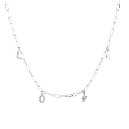 Love chain necklace - Silver