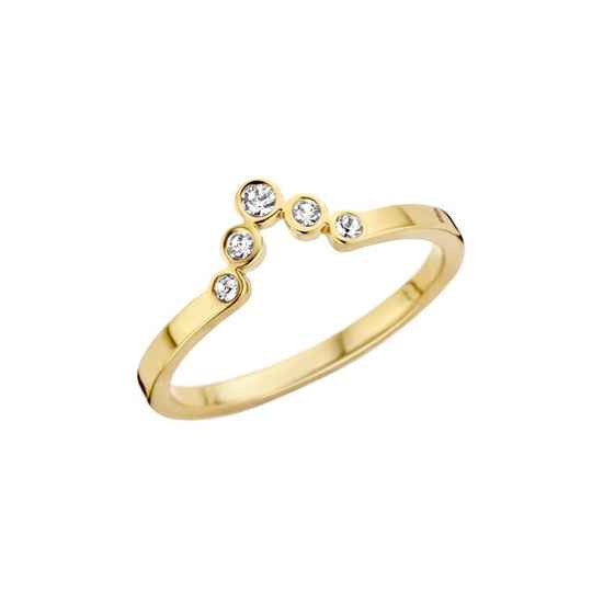 Melano friends ring pointed cz goud