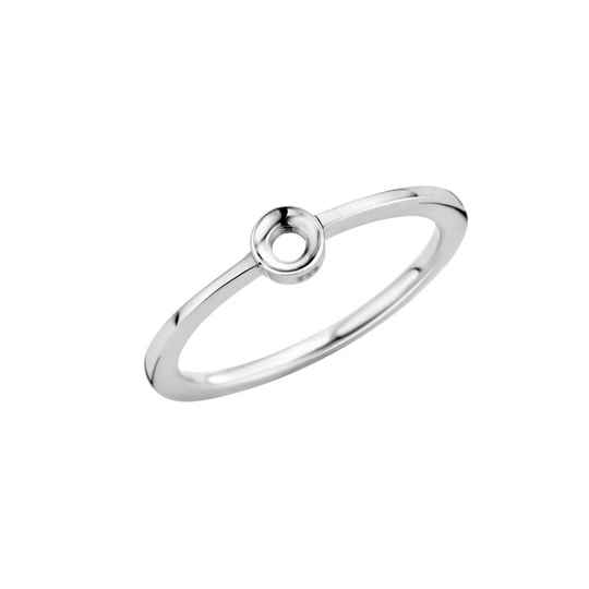 Melano twisted ring Petit zilver