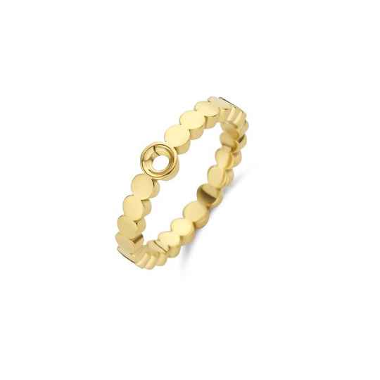 Melano twisted ring wave goud