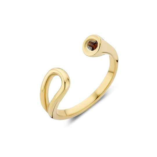 Melano twisted ring open loop goud