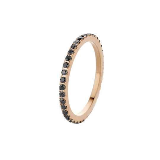 Melano friends ring sadé rosé/black