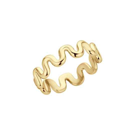 Melano friends ring crinkle goud