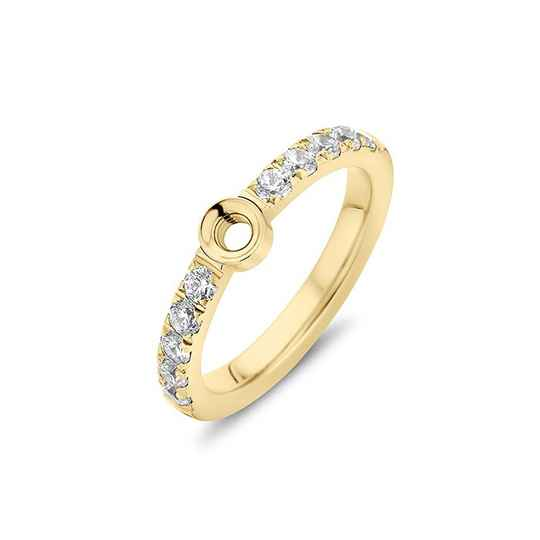 Melano twisted ring crystal goud
