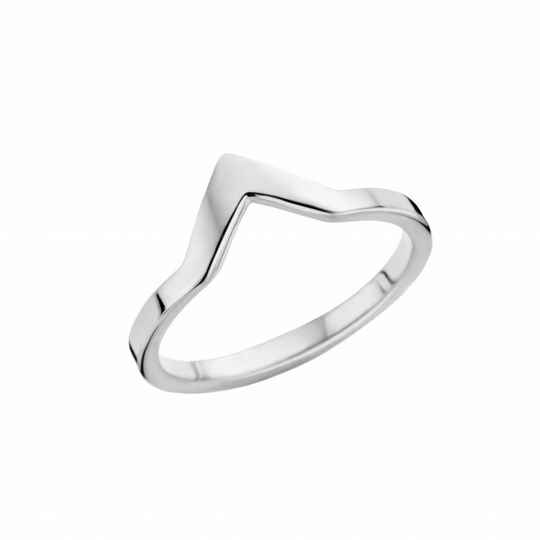 Melano friends ring pointed zilver